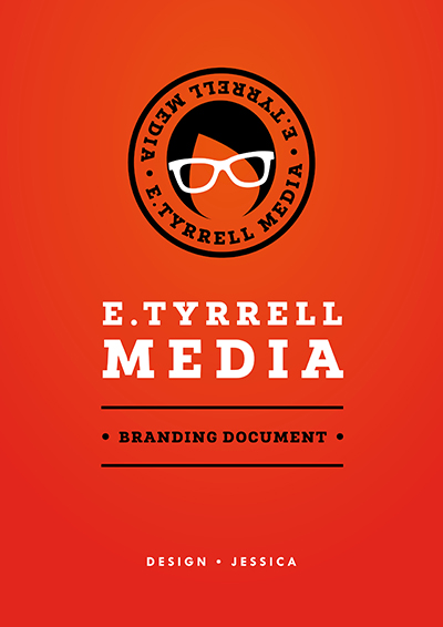 Pages from E.Tyrrell Media Style Guide - logo, fonts, icons and typography