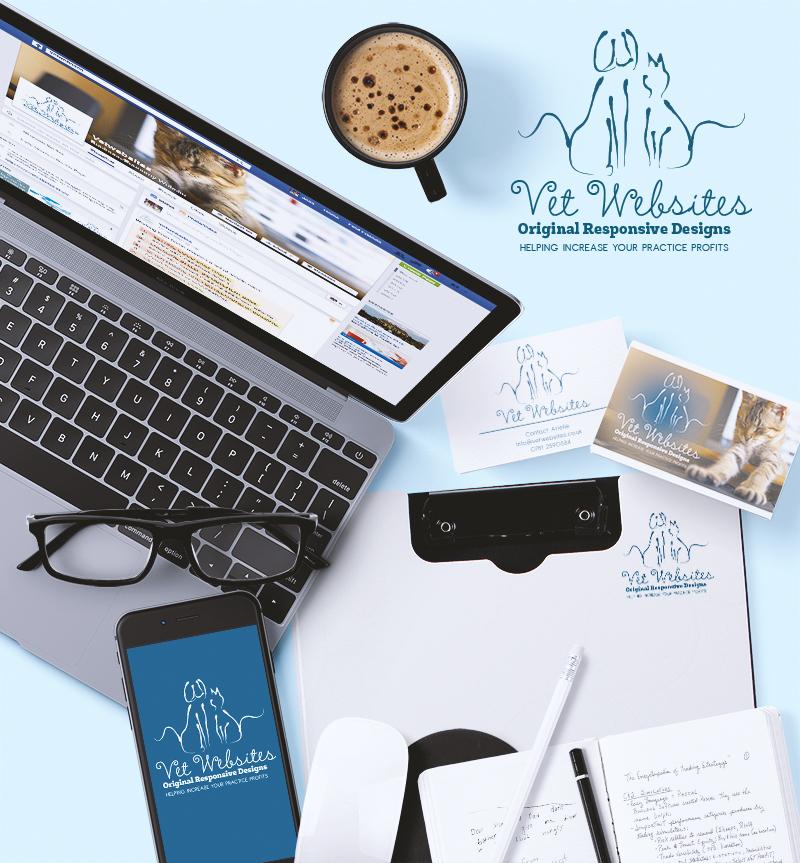 Vetwebsites Logo & Business Cards