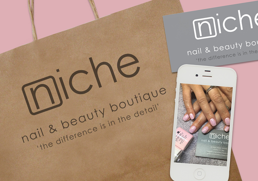 Bag design for Niche Nail and Beauty Boutique