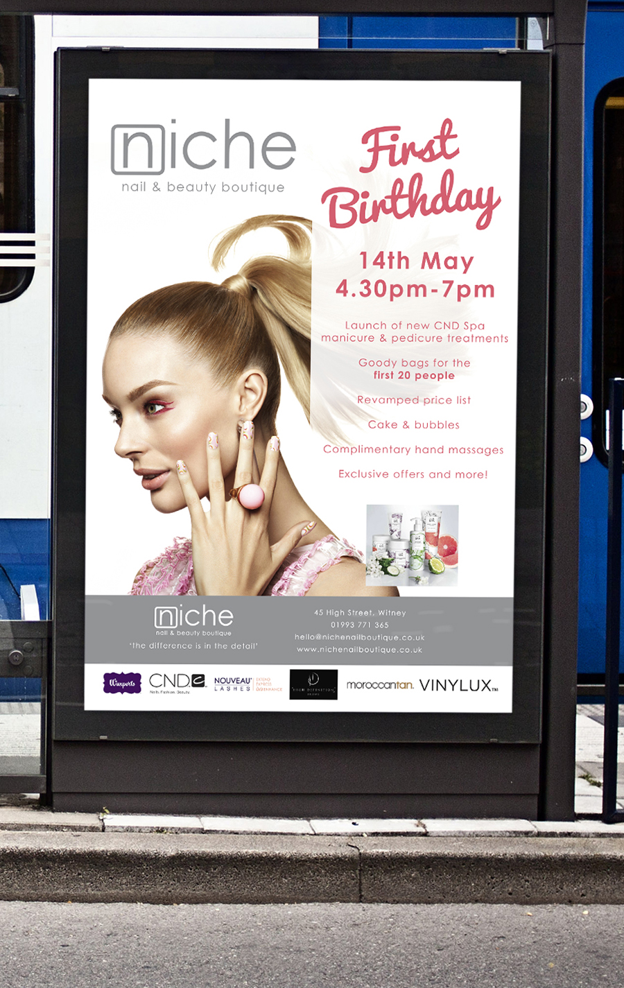 Poster design for Niche Nail and Beauty Boutique