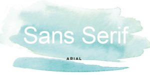 Sans Serif Title image for Build Your Brand Series by Design Jessica