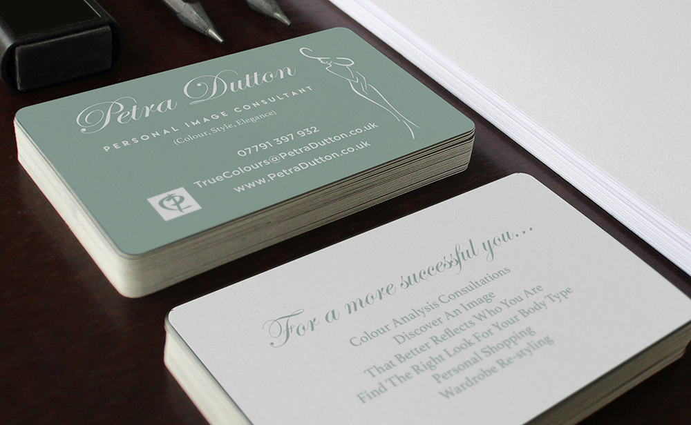 Petra Dutton Style Consultant Business Card Design by Design Jessica